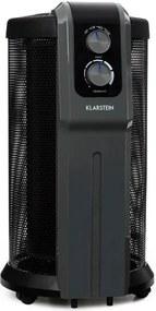 Klarstein DATSCHA ANALOG, 360 ° încălzitor, termostat, încălzire radială, 2000 W, negru