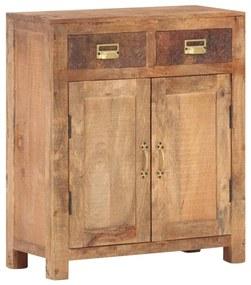 247735 vidaXL Servantă, 65 x 30 x 75 cm, lemn masiv de mango nefinisat