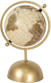 Glob pamantesc decorativ din fier auriu plastic 24 cm x 20 cm x 37 h