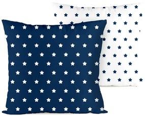 Față de pernă 4Home Stars navy blue, 40 x 40 cm, 40 x 40 cm