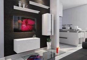 Expedo Mobilă sufragerie ELPASO 11 + LED, alb/alb luciu