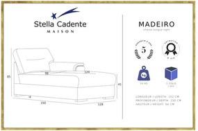 Șezlong Stella Cadente Maison Madeiro, pe partea dreaptă, gri antracit