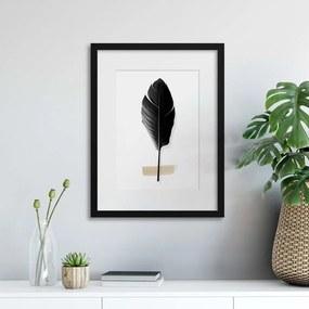 Imagine în cadru - Tropical Leaves in Noir III 30x40 cm
