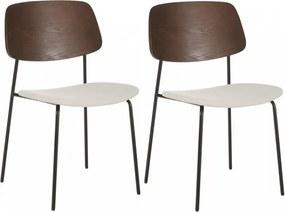 Set de 2 scaune Nadja, lemn/ metal/tesatura, 51 x 83 x 52 cm