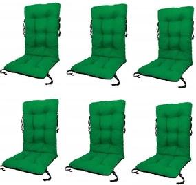 Set Perne pentru scaun de gradina sau sezlong, 48x48x75cm, culoare verde, 6 buc/set