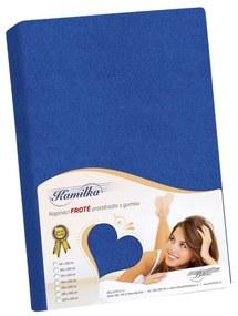 Cearşaf de pat Kamilka, albastru închis, 200 x 220 cm, 200 x 220 cm
