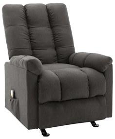 321411 vidaXL Fotoliu de masaj rabatabil, gri închis, material textil