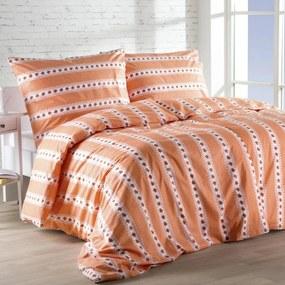 Lenjerie de pat din bumbac BARUNKA portocalie lungime prelungită