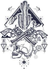 Imagine în cadru - Guns & Skulls 50x70 cm