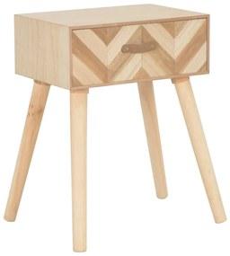 247376 vidaXL Noptieră cu sertar, 44 x 30 x 58 cm, lemn masiv
