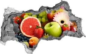 Samolepiaca nálepka betón Farebné ovocie