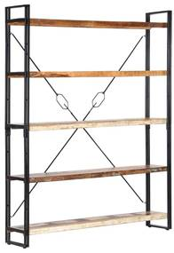 286583 vidaXL Bibliotecă cu 5 rafturi, 140 x 30 x 180 cm, lemn masiv reciclat