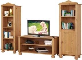 Set 3 piese de mobilier din lemn de pin pentru sufragerie Støraa Ella