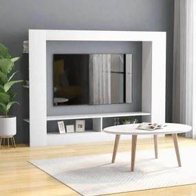 800738 vidaXL Comodă TV, alb, 152 x 22 x 113 cm, PAL
