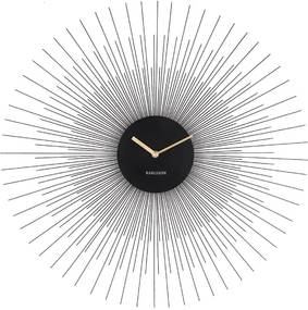 Ceas de perete Karlsson Peony Large, negru, ø 60 cm