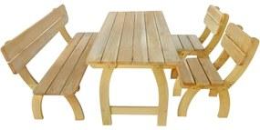 273753 vidaXL Set mobilier de exterior, 4 piese, lemn de pin tratat