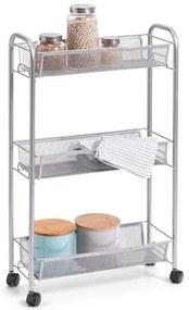 Etajera mobila, metalica, 3 rafturi, 44 x 17 x 70,5 cm