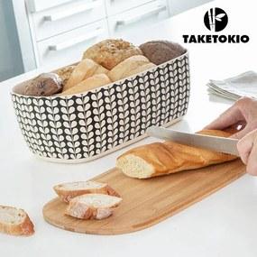 Cutie cu Planșetă din Bambus pentru Tăiat Pâine TakeTokio