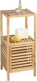 Suport pentru baie din lemn cu ușă Wenko Norway