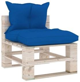 3066079 vidaXL Canapea de grădină din paleți, de mijloc, cu perne, lemn pin