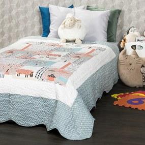Cuvertură de pat pentru copii 4Home Animals, 140 x 200 cm