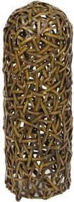 Veioza din ratan maro si metal 60 cm Wicker Santiago Pons