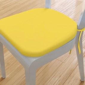 Goldea pernă pentru scaun rotundă din bumbac 39x37cm - galben 39 x 37 cm