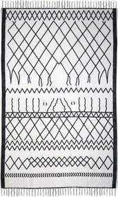 Covor din bumbac HSM collection Colorful Living Garrio, 70 x 120 cm, negru alb