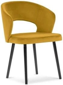 Scaun cu tapițerie de catifea Windsor & Co Sofas Elpis, galben