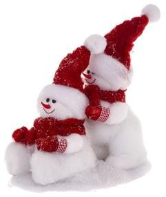 Decoratiune Craciun JJA  Snowmen on Ice 30cm