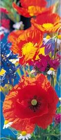 Fototapet pentru usa Red Poppies -  86x200 cm