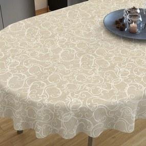 Goldea față de masă decorativă loneta - model 294 - ovale 140 x 280 cm