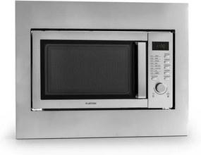 Klarstein Steelwave microunde 23L 800W Grill 1000W inox cadru de montaj