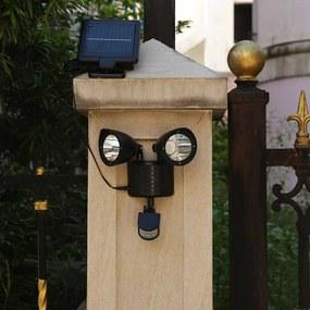 Lampa solara dubla cu senzor de miscare