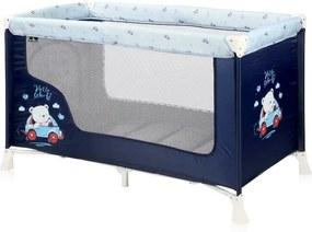 Lorelli - Patut pliabil SAN REMO 1 nivel Blue Bear