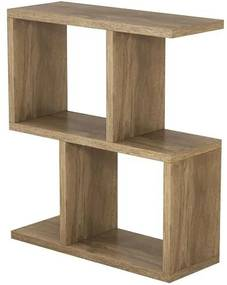 Masa laterală Carletta Zet, lemn, maro, 51 x 45 x 17 cm