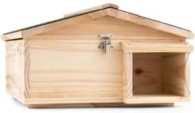 OneConcept Stachelburg casa labirint arici intrare Futterhaus lemn de esenta tare