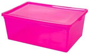 Cutie roz cu capac, 37x26x14 cm, 10L