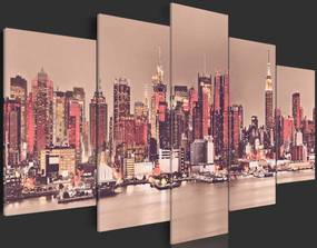 Tablou - NY - The City Don't Sleep 100x50 cm