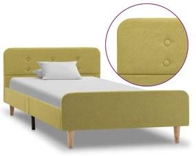 284913 vidaXL Cadru de pat, verde, 100 x 200 cm, material textil