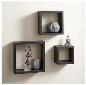 Set 3 cuburi perete Negre