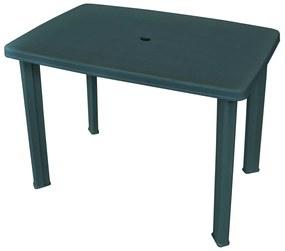 43593 vidaXL Masă de grădină, verde, 101 x 68 x 72 cm, plastic