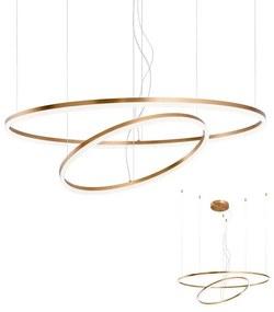 Redo 01-1721 - Lustră LED pe cablu ORBIT LED/42W + LED/66W/230V bronz