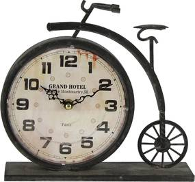 Ceas de masa metal maro model bicicleta retro 23x7x22 cm