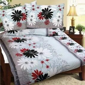 Lenjerie pat 1 pers. Gerbera, creponată, 140 x 200 cm, 70 x 90 cm