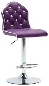 249725 vidaXL Scaun de bar, violet, piele ecologică