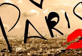 Tablou Bimago - Postcard from Paris 100x50 cm