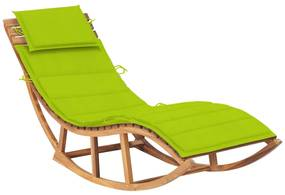 3063344 vidaXL Șezlong balansoar cu pernă, lemn masiv de tec