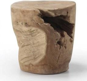 Taburet din lemn de tec 35 cm Tropicana Kave Home