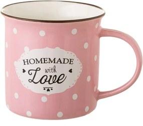 Cană din porțelan Unimasa Homemade, 230 ml, roz